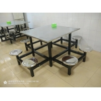 四川不锈钢餐桌|快餐桌椅|不锈钢食堂快餐桌椅