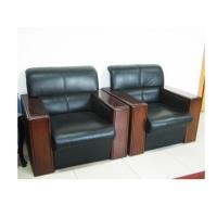办公家具木扶手办公沙发