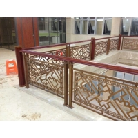 广东铜艺世家楼梯扶手,铝艺栏杆
