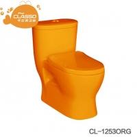 幼儿园儿童坐式马桶坐便器连体式卫生间儿童陶瓷马桶彩色小马桶