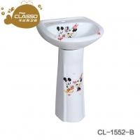 洗脸盆幼儿园立柱盆卡通立柱台盆面盆立柱盆小艺术柱盆儿童洗手池