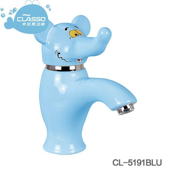 儿童卡通面盆龙头冷热脸盆洗脸池洗手盆幼儿园小孩彩色陶瓷水龙头