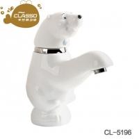 卡通水龙头面盆龙头冷热北极熊洗手盆洗脸盆卫生间幼儿园水龙头