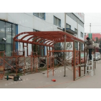 潍坊断桥铝阳光房葡萄架凉亭设计定制 封露台阳光房