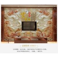 3D立体仿玉雕客厅电视瓷砖背景墙中式人气微晶石浮雕艺术