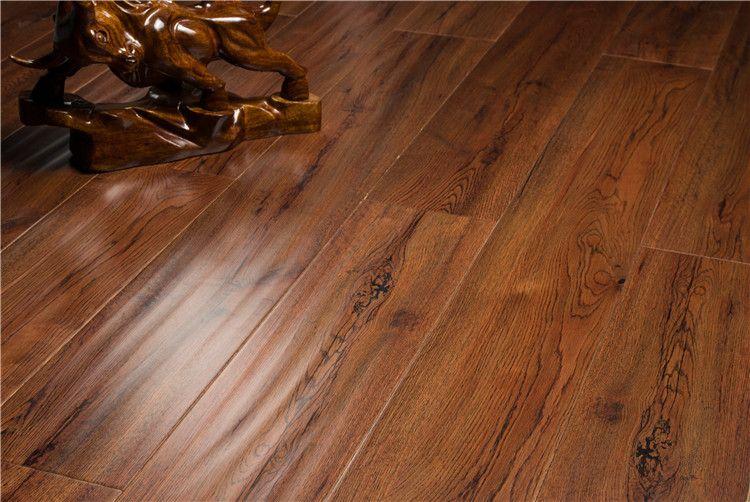 数码印刷木地板 大板木地板 简约大方 裂纹橡木