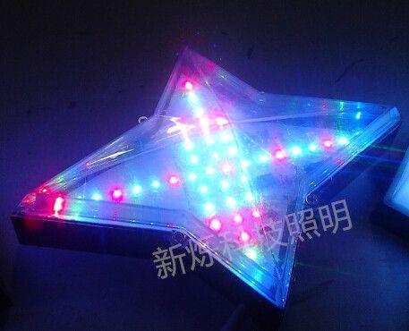 流水灯全彩变化效果及多个点光源组成点阵