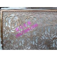 (古铜色铝板雕刻镂空花格)不锈钢镂空花格屏风