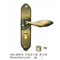 HD-65615-古典房门锁-黄古铜