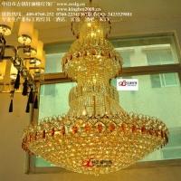 供应高档欧式酒店非标工程灯LED水晶吊灯蜡烛大堂灯