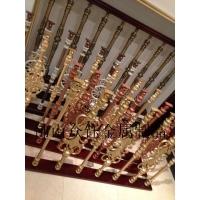 K金纯铜楼梯护栏雕花铸造立柱