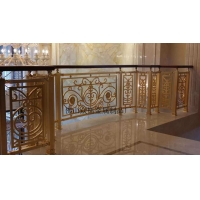 激光切割镂空304不锈钢护栏 不会生锈的楼梯护栏