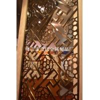 纯铜雕刻庭院大门隔断,铜屏风隔断