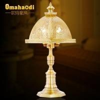 全铜欧式台灯 书房灯 卧室灯 低调奢华 欧玛豪迪