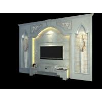 人造玉石电视背景墙   客厅背景墙图片