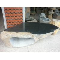 自然石石桌椅 仿古雕刻 公园石桌凳