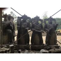 四大天王雕塑 人物仿古石雕