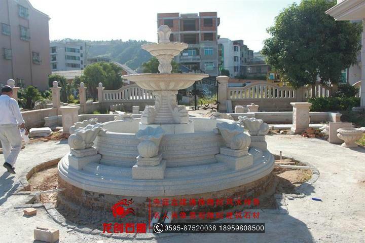 欧式法式水景雕刻 花岗岩水钵水珐 园林喷泉流水钵