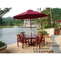 酒店度假村广场休闲餐桌,实木套椅