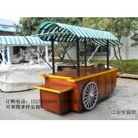 湖南文化园实木景观售货车定做