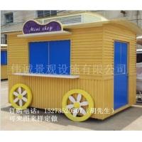 重庆步行街SH实木售货车,特色贩卖车,旅游区移动售卖亭