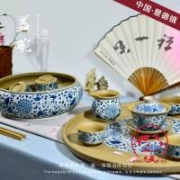 功夫茶具 礼品茶具 手绘茶具 陶瓷茶具