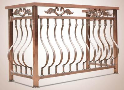 a型流动线条竖杆铝合金阳台护栏