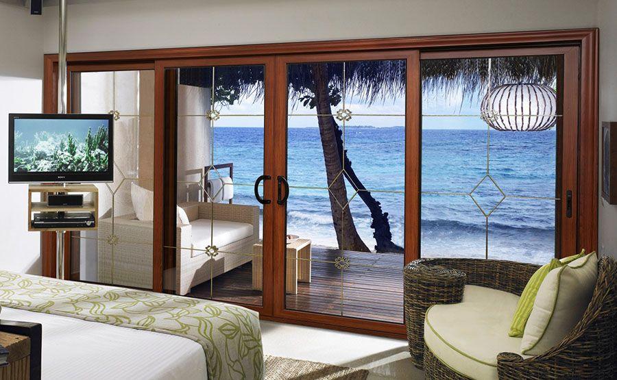 单扇多扇推拉门可做客厅阳台门 高档英式隔热隔音推拉