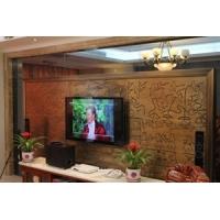 别墅铜电视背景墙