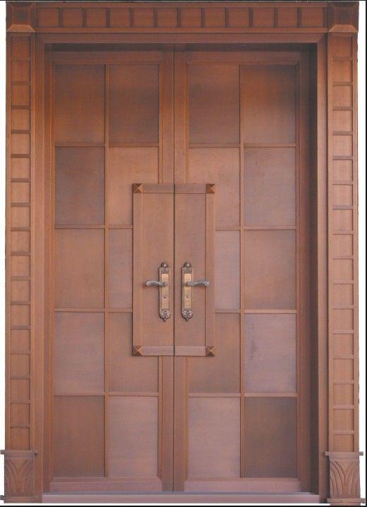 新型复合门---铜木门全国定做
