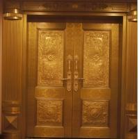 豪华铜门。别墅门专业定做