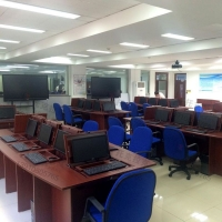 托克拉克TKLK-03多媒体教室课桌椅一桌多用桌面可翻转