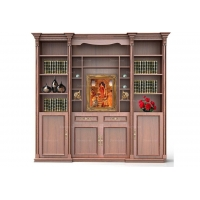欧洛斯简欧风格版得古柚康桥时光博古书架书柜定制