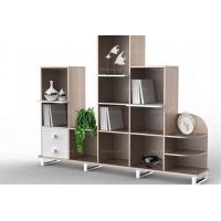 现代简约板式风格书柜定制