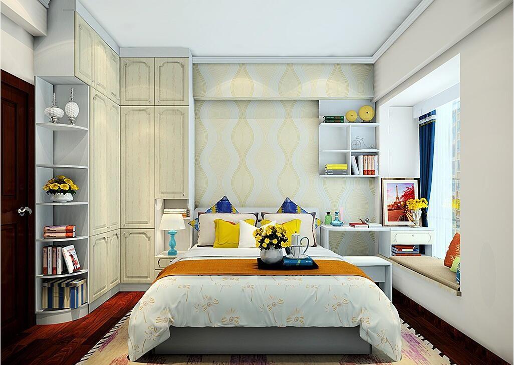 梁狠狠的背景_衣柜包梁与化妆台和吊柜的组合设计,增加了卧房的储物空间,衣柜