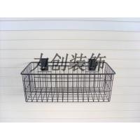金属黑色喷塑挂钩挂篮及新型高档展示槽板