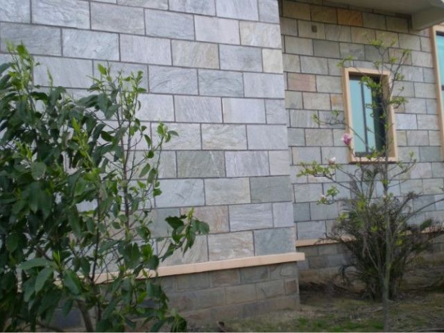 别墅黄色蘑菇石|黄色文化石河北文化石外墙砖