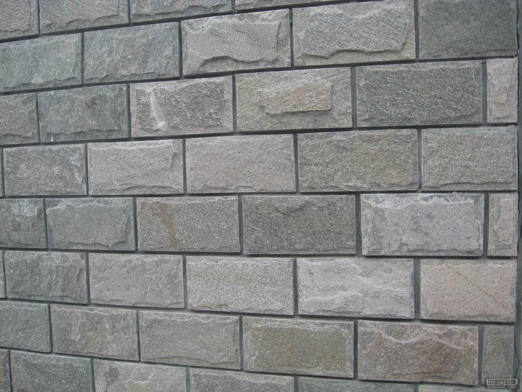 河北灰色文化石|粉石英文化石墙面砖别墅|外墙灰色文化石