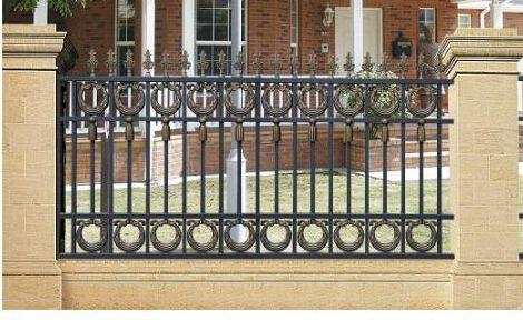 定制铸铝栏杆 铝艺别墅护栏 花园围栏