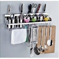 JOMOO九牧 厨房置物架多功能双杯插刀架不锈钢活动挂架