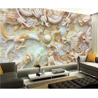 彩虹石品牌仿玉石背景墙3D立体瓷砖背景墙