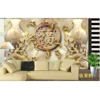 玉雕石材背景墙 石材雕刻画 客厅背景墙 电视背景墙