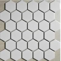 白色六角砖 背景墙马赛克 白色六角形马赛克