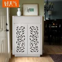 好天气家具 时尚橄榄叶烤漆鞋柜 简约现代超大容量鞋柜