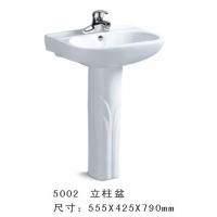 帝朝卫浴立柱盆洗脸盆洗手盆立式两件式柱盆
