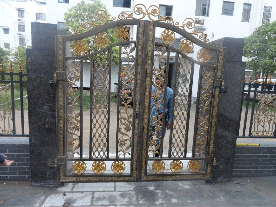 高档别墅大门庭院,铝合金庭院园,佛山卫朗铝艺二手泰州别墅图片