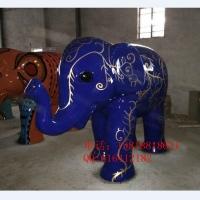 玻璃钢大象彩绘