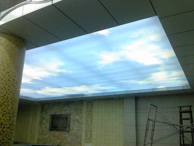 灯光膜效果广西无边框UV膜写真膜发光膜透光膜