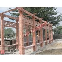 石雕凉亭廊架