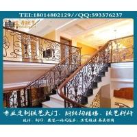 别墅铁艺栏杆、楼梯栏杆制作、欧式铁艺栏杆